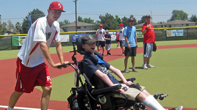 Daniel at baseball game