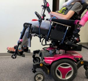 DRBi and Dynamic Footrests on a Power Wheelchair.