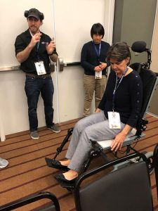 Missy Ball tries Seating Dynamics at ISS 2019