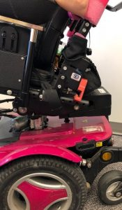 DRBi pivot point on a wheelchair