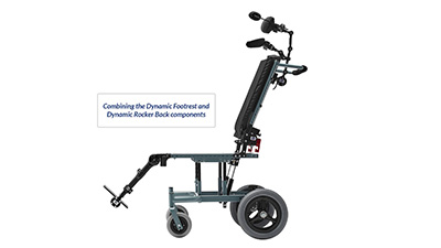 Seating Dynamics Combined Dynamic Back Foot Components for Wheelchair Movement