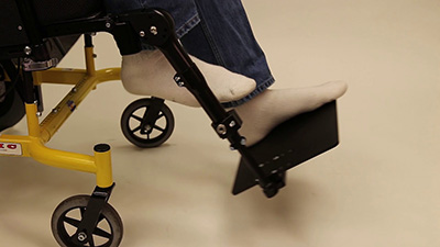 Seating Dynamics Dynamic Footrest One Piece Footboard demonstration