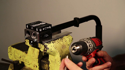 Using the PN 6100 Back Cane Saw and Drill Jig to prepare to install the DRBi