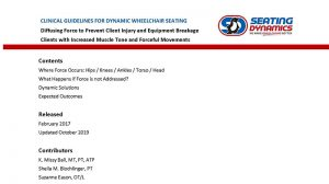 Seating Dynamics Clinical Guidelines PDF Cover