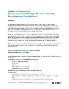 Seating Dynamics Clinical Indicators Providing Movement PDF