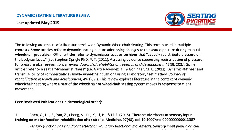 Seating Dynamics Literature Review